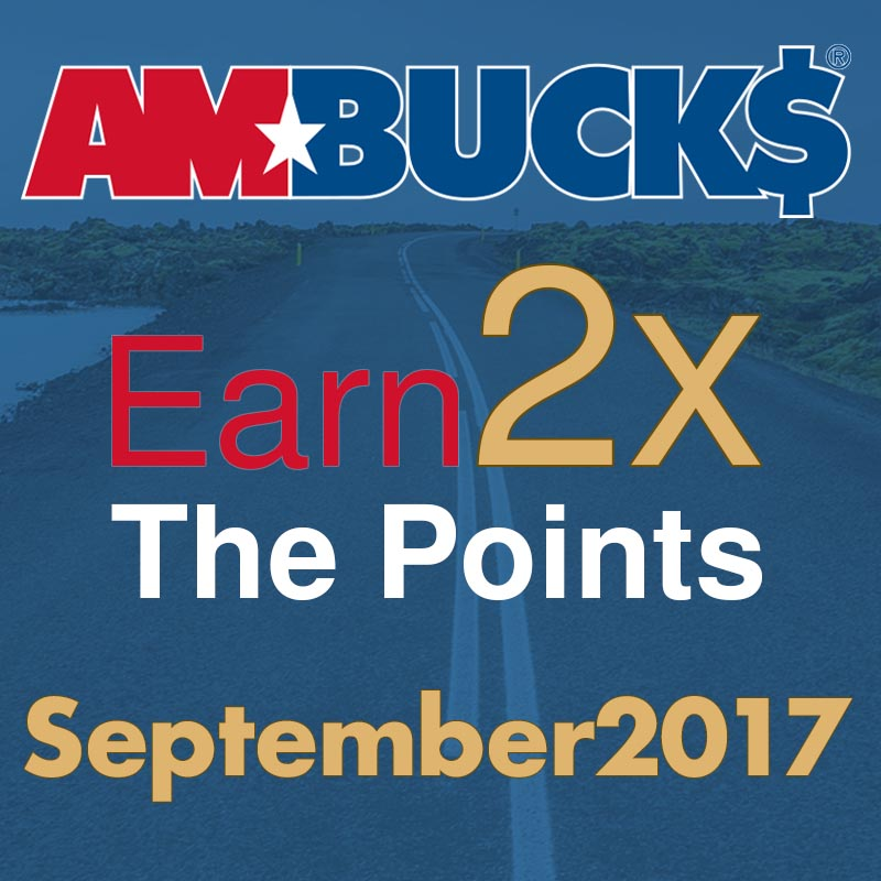 AmBucks earn douple the points for September 2017